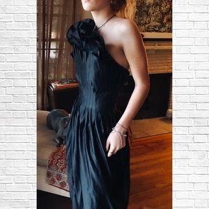 Thomas Wylde Silk Strapless Couture Dress